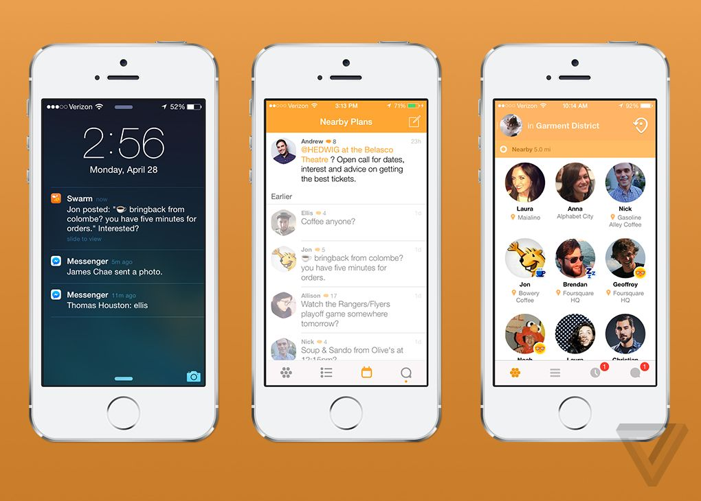 Meet Swarm Foursquareu0027s ambitious plan to split its app in two - new world map software download for mobile