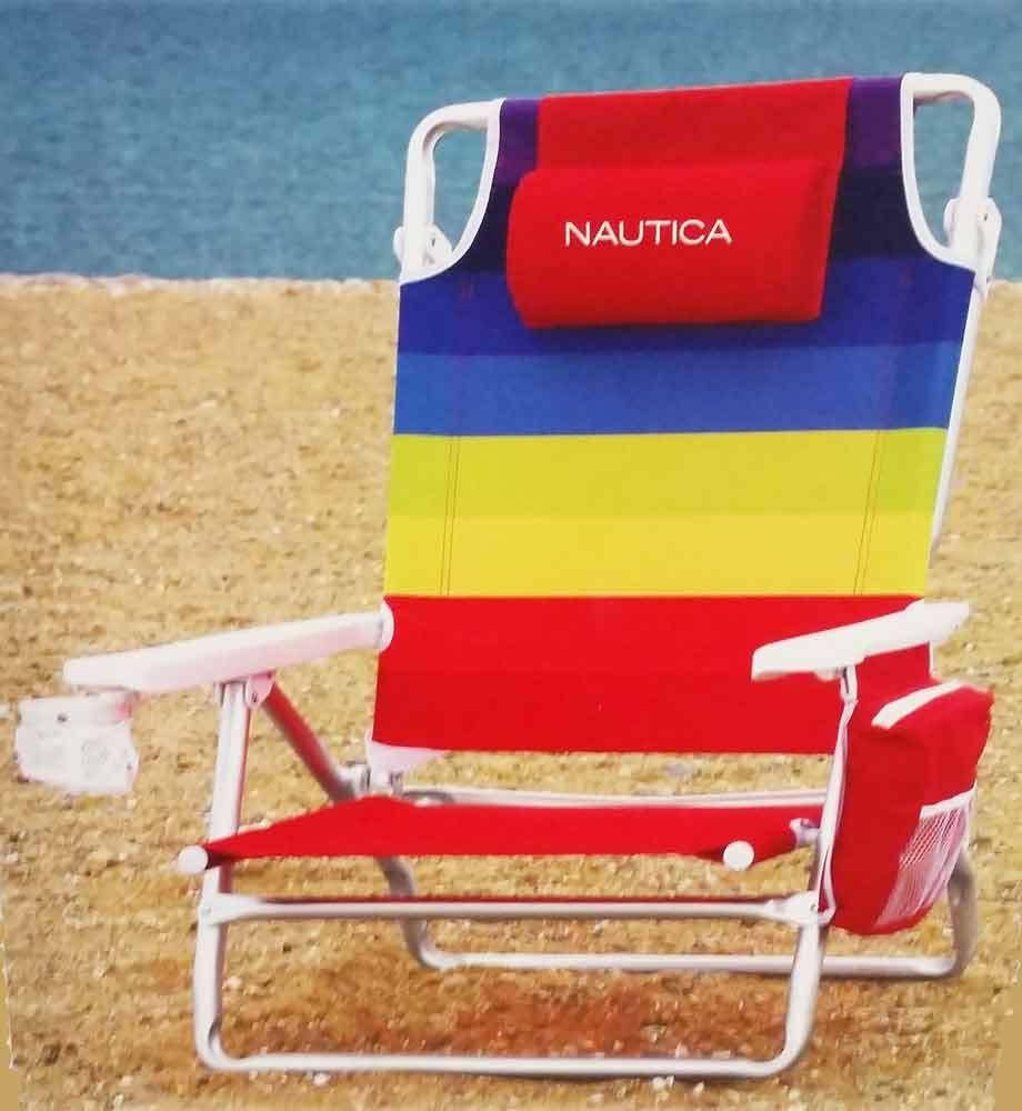 Beach chairs beach chair umbrella beach cart cabanas - Nautica Folding Beach Chairs Nautica Beach Chair