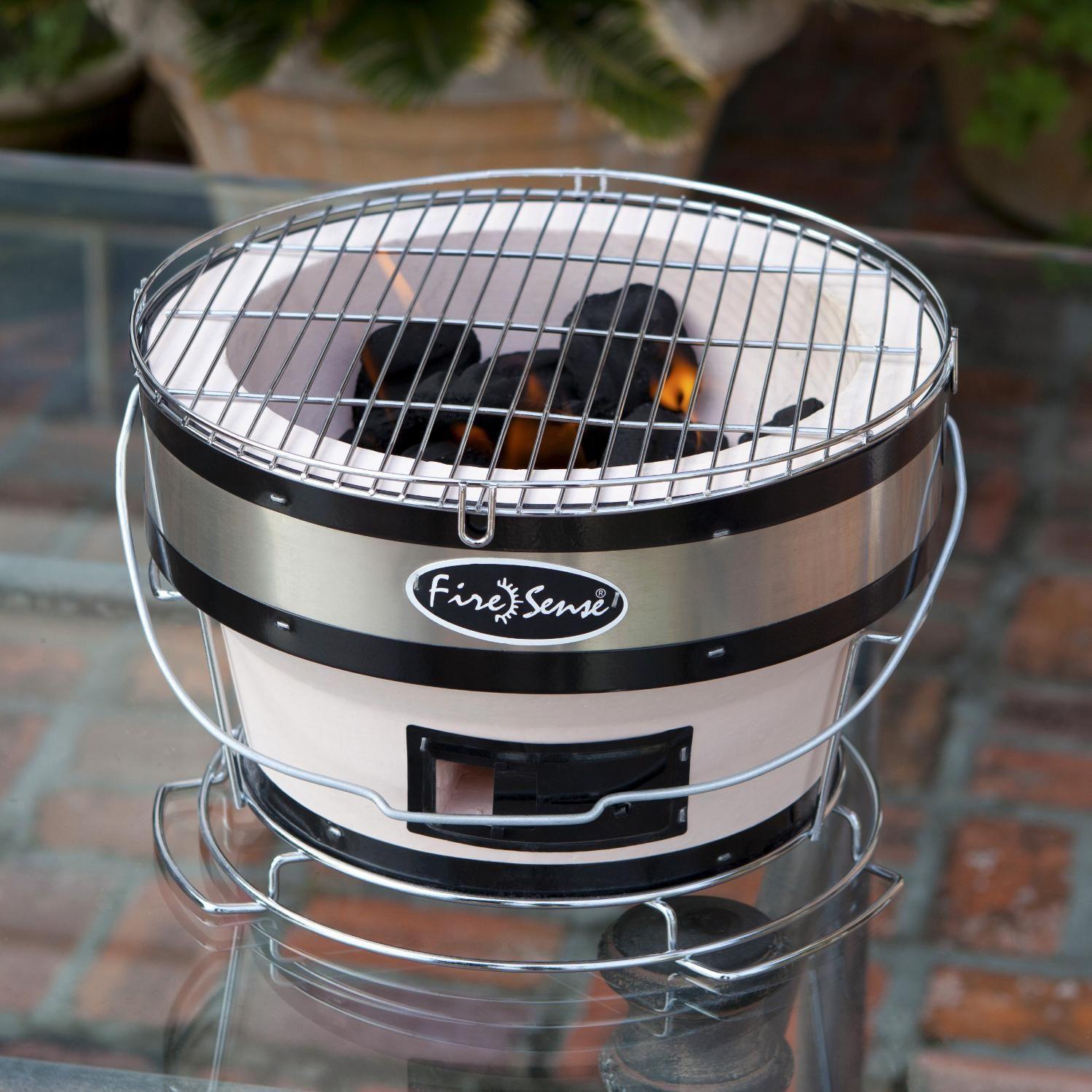 Fire Sense 11 Inch Small Yakatori Tabletop Charcoal Grill 60449