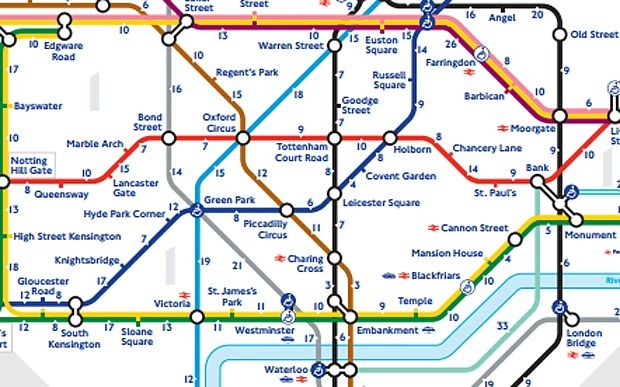walk the tube underground map released by transport for london