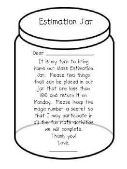 Math Estimation Jar Take Home Fun Math Lessons Elementary Math 2nd Grade Math