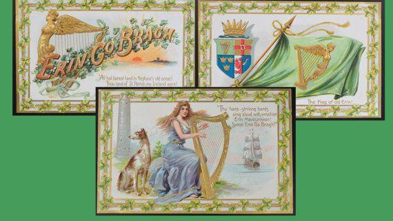 Saint Patrick's Day Postcard Set Tuck Cards St by EndlessEphemera