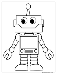 Robot Clipart Free Google Search Coloring Pages For Boys Coloring Pages For Kids Preschool Coloring Pages