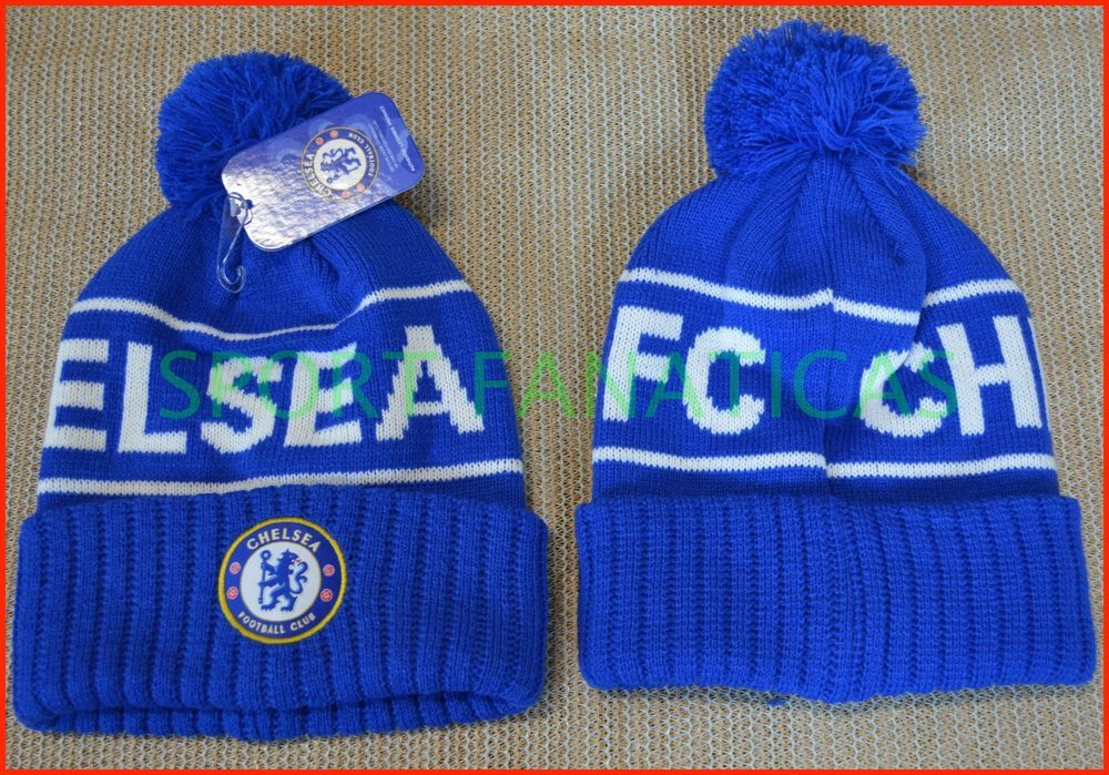 0114e077c15 CHELSEA FC BEANIE POM POM soccer CAP HAT SKULLIE WINTER AUTHENTIC    OFFICIAL  RHINOX  CHELSEAFC