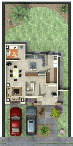 Planta baja planos de planta planos de casas modernas for Casa moderna 8x20