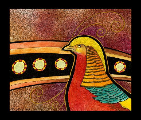 Golden Pheasant as Totem by Ravenari.deviantart.com