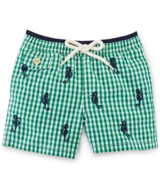 4bea48cb73610 Ralph Lauren Baby Boys' Graphic Swim Trunks | macys.com | Get Baby ...