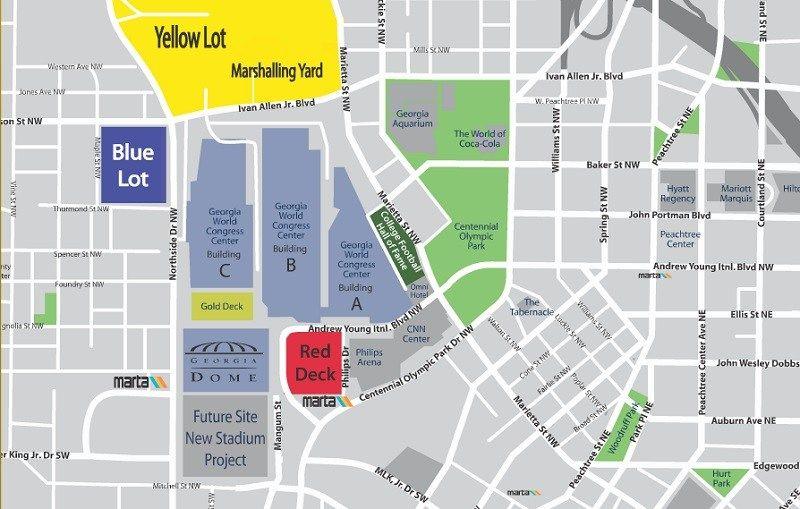 Georgia World Congress Center Parking Map Cheer Pinterest - Georgia map games