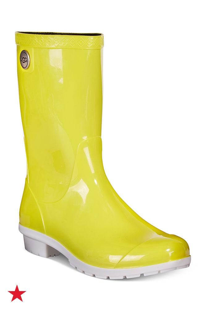 004d4b9385f With rainy days ahead, these bright yellow UGG® rain boots will ...