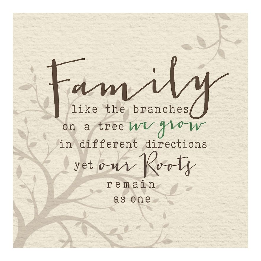 New View Gifts Family Roots Canvas Wall Art, Beig/Green, 12