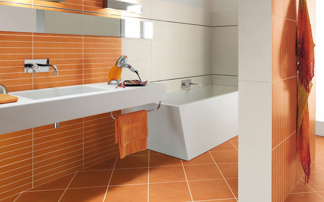 Carrelage Salle De Bain Orange Iris Carrelage Orange Orange Shower Floor Flooring