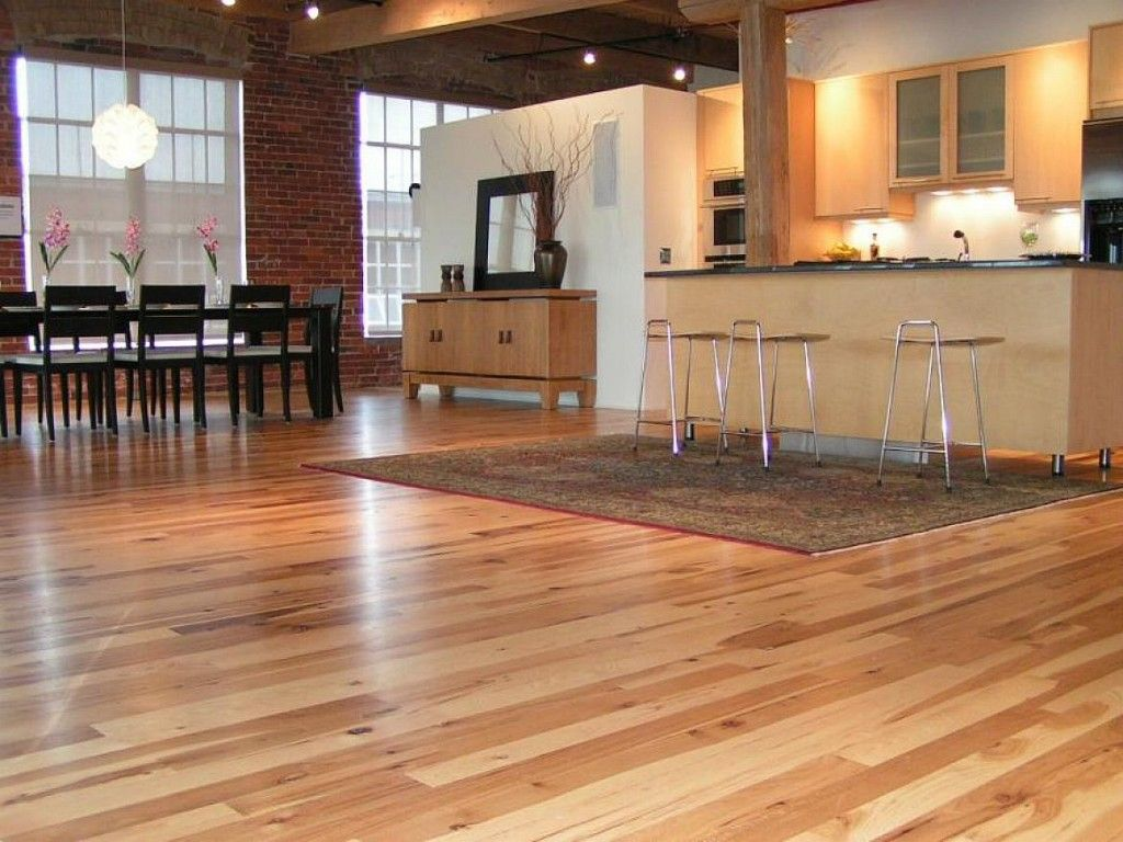 Hardwood Floor In The Kitchen Room To Dance Hickory Wood Hickory Hardwood Flooring Modern