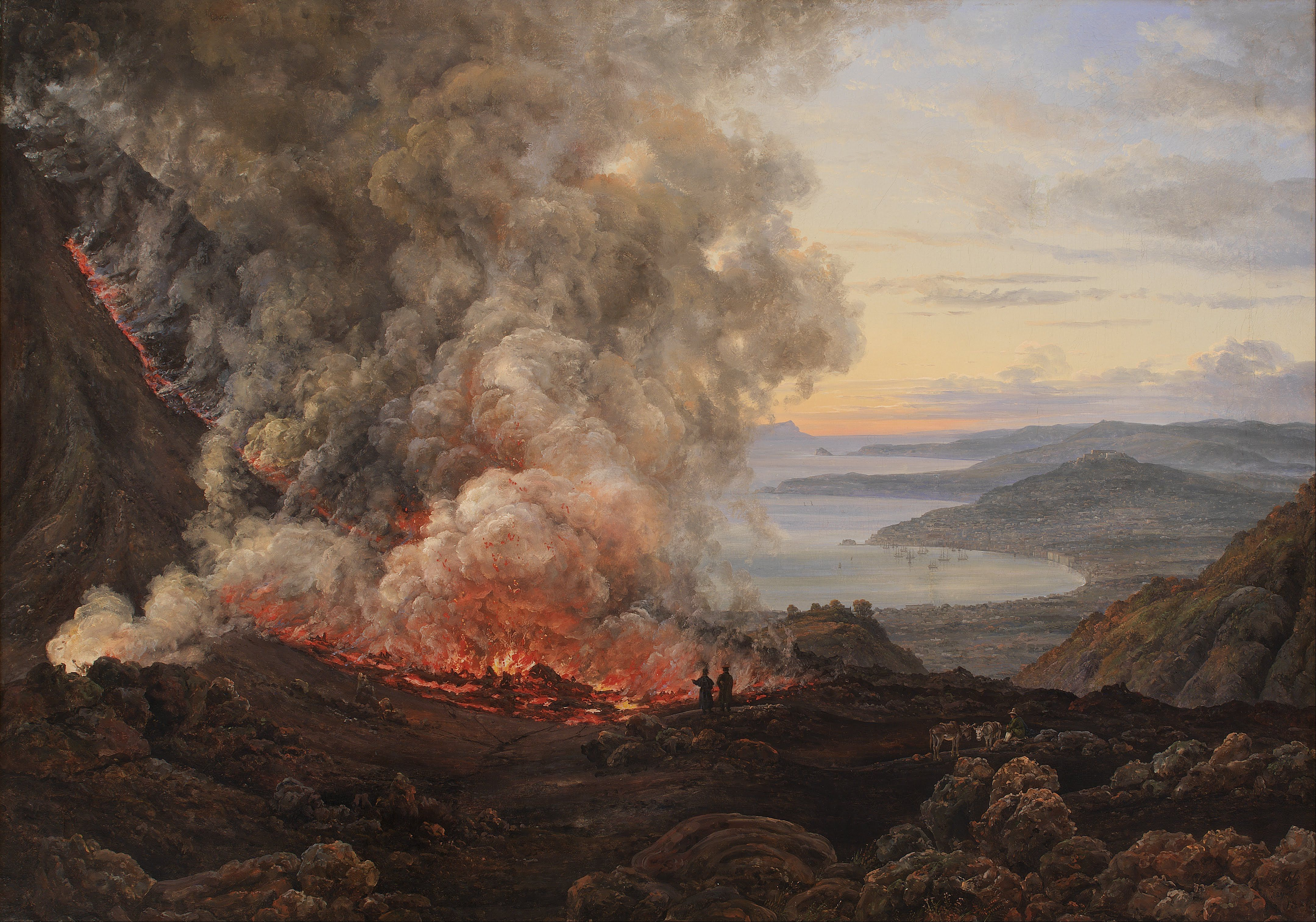 masters painting volcano - Google Search | The wave and Shore ...