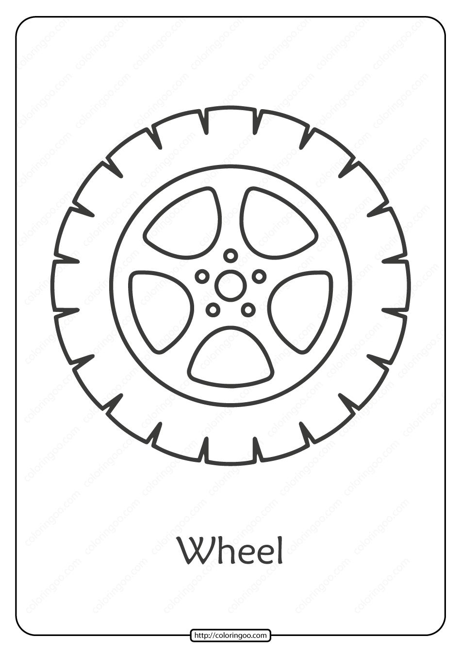 Free Printable Car Wheel Pdf Coloring Page Stencil Templates Templates Printable Free Wheel Cake