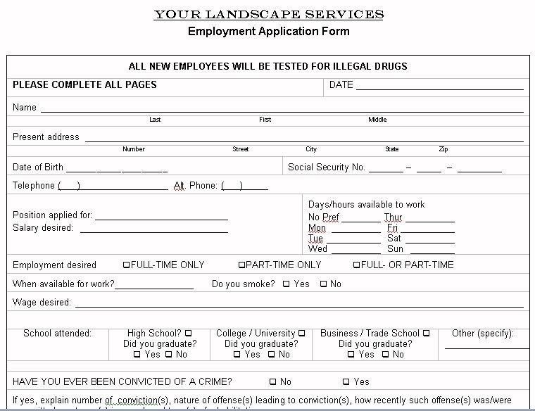 Printable Sample Lawn Service Contract Form  Attorney Legal Forms