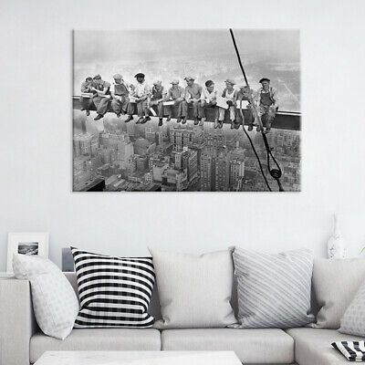 Retro Black White Person Building Photography Picture Home Decor Canvas Painting #fashion #home #garden #homedcor #postersprints (ebay link)