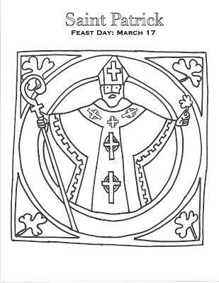 Holy Family Classical Academy: A Little Saint Patrick Coloring Page ...