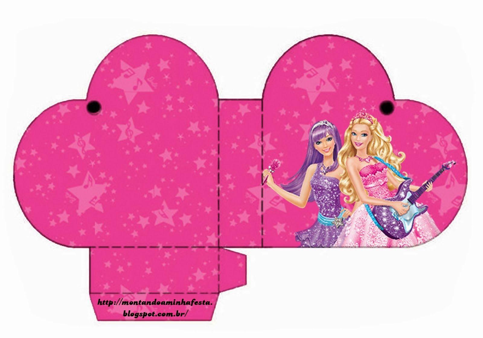 Fiestas de Barbie Rock Star: Cajas para Imprimir Gratis. | Barbie ...