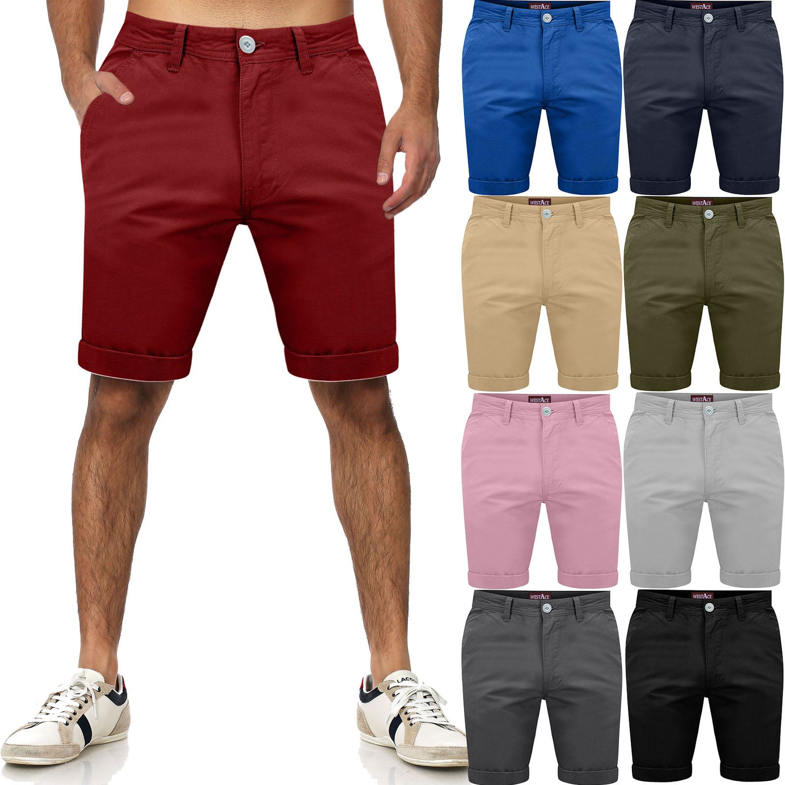 6a37197efa £9.95 GBP - Mens Chino Shorts Cotton Combat Half Pant Casual Summer Cargo  Jeans Casual