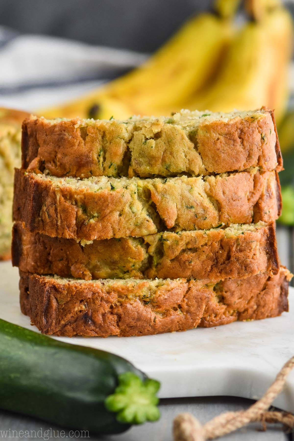 this zucchini banana bread is such a simple no rise