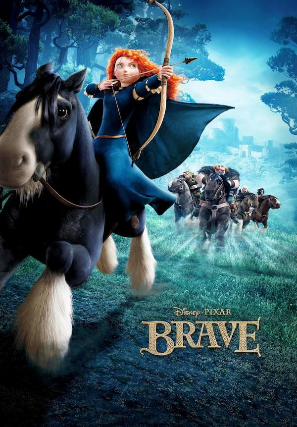 Brave (2012) - Poster US - 3482*3482px