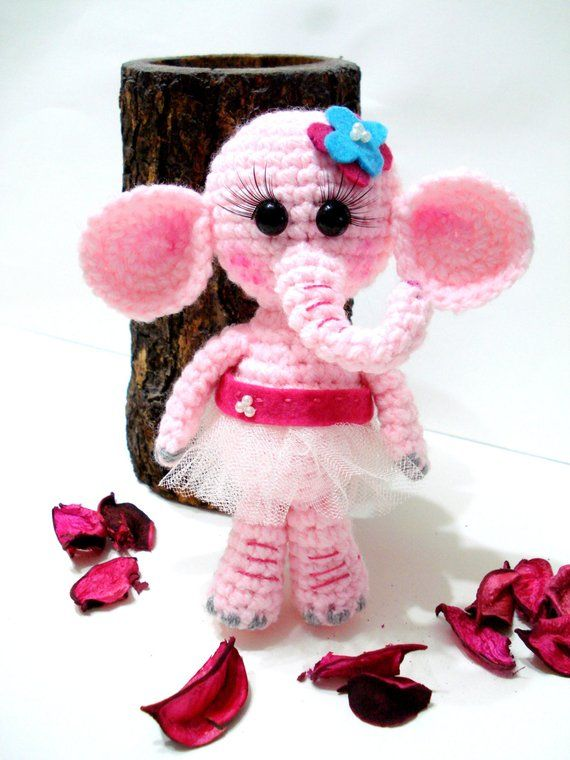 PATTERN, Amigurumi Elephant Pattern, Crocheted Elephant Pattern, Amigurumi Pattern, Tutorial #crochetelephantpattern