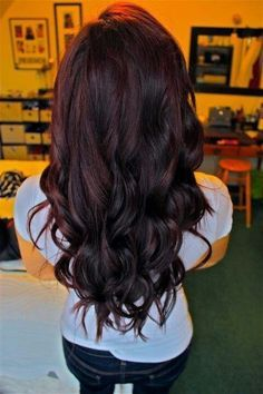 Dark Brunette Hair With Purple Lowlights Google Search Hair Color Cherry Coke Winter Hair Color Hair Styles