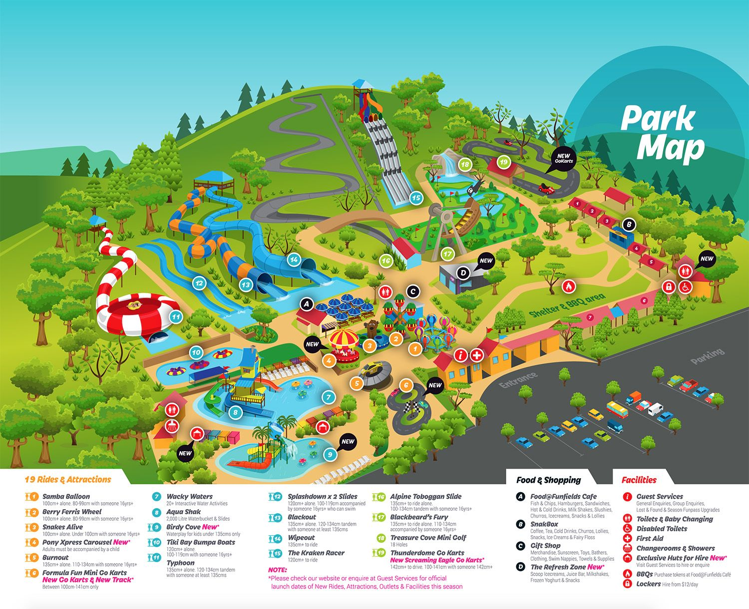 Funfields Park Map | Amut Park | Park, Map on six flags over georgia park map 2013, kennywood park map 2013, holiday world park map 2013,