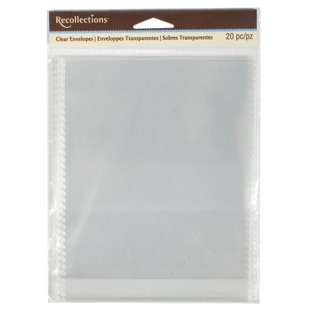 Clear Envelopes By Recollections 4 25 X 5 5 Gift Card Envelope Greeting Card Envelope Cards Envelopes