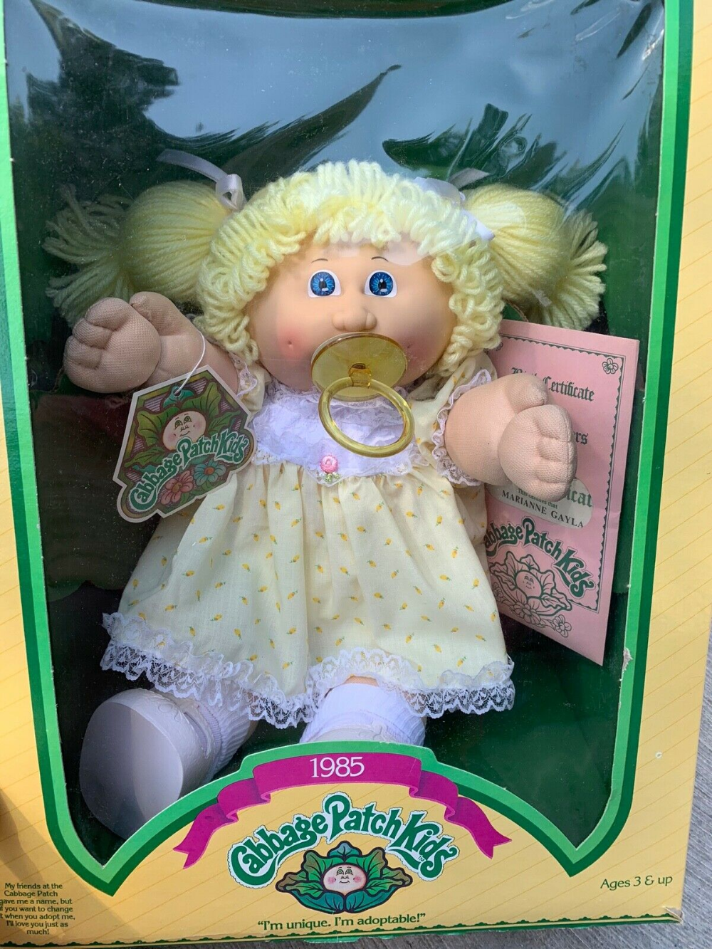 Cabbage Patch Kid Girl Blonde Pacifier New Vintage 1985 109 99 Munecas Regalos