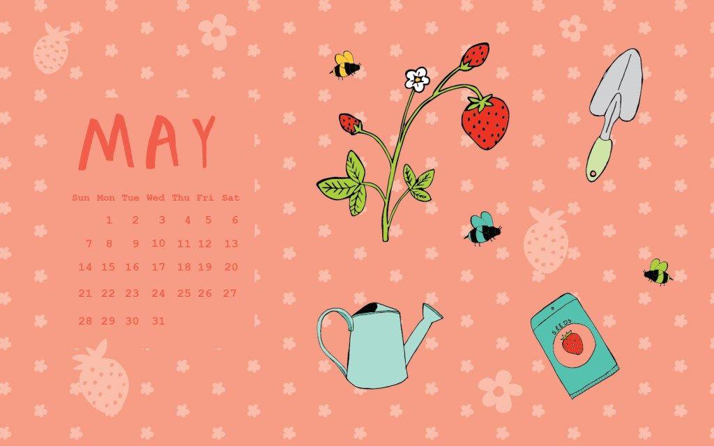 Free May 2017 Desktop Calendar!