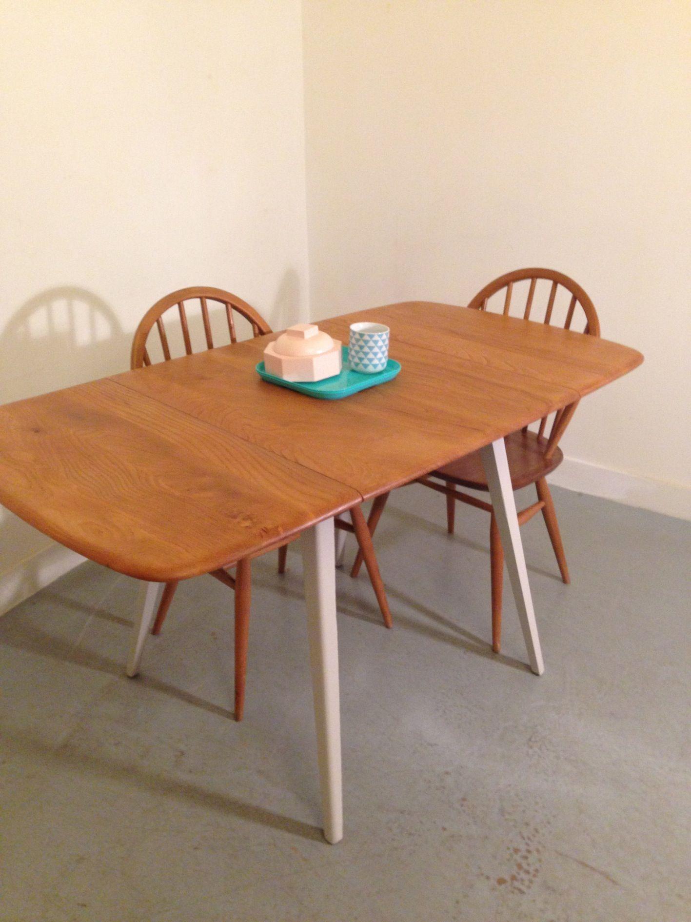 general store paris table manger vintage par ercol table manger pliante vintage 1960 s. Black Bedroom Furniture Sets. Home Design Ideas