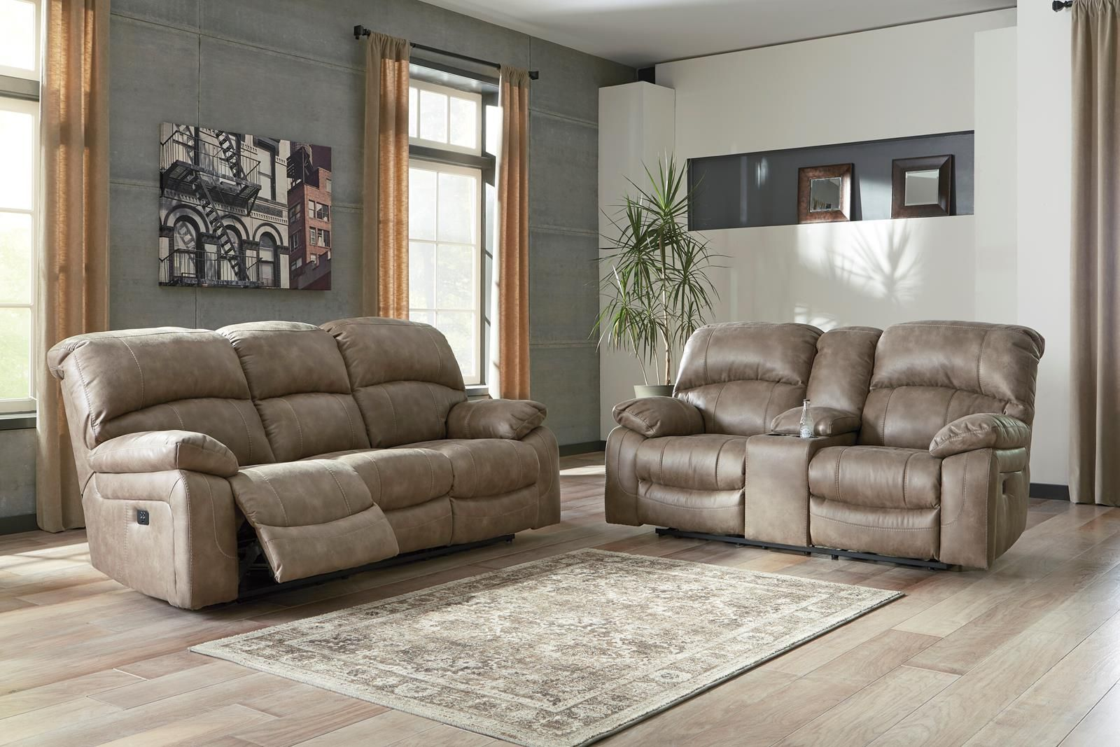 Dunwell 2 Piece Power Recliner Living Room Set In Driftwood Living Room Recliner Living Room Furniture Recliner Reclining Sofa #small #recliners #for #living #room