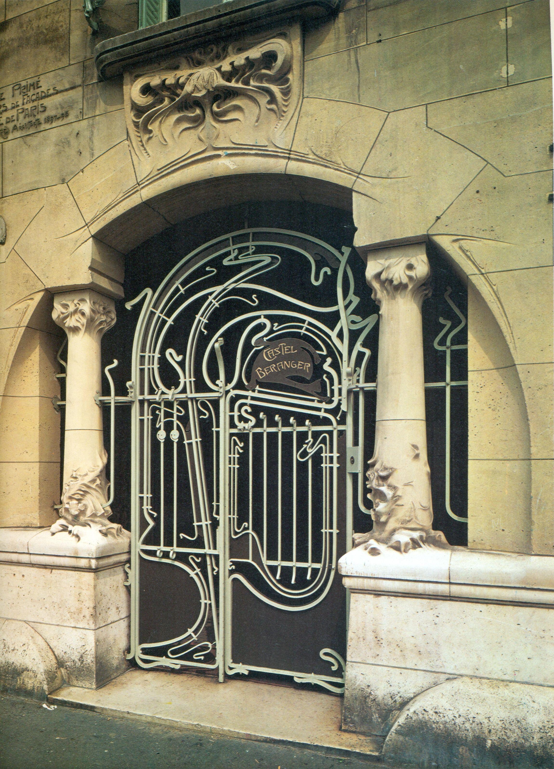 Castel Baranger entry gate in Paris by Hector Guimard. I