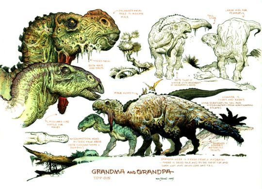 Illustrations For Walt Disneys Dinosaur 2000 By William Stout