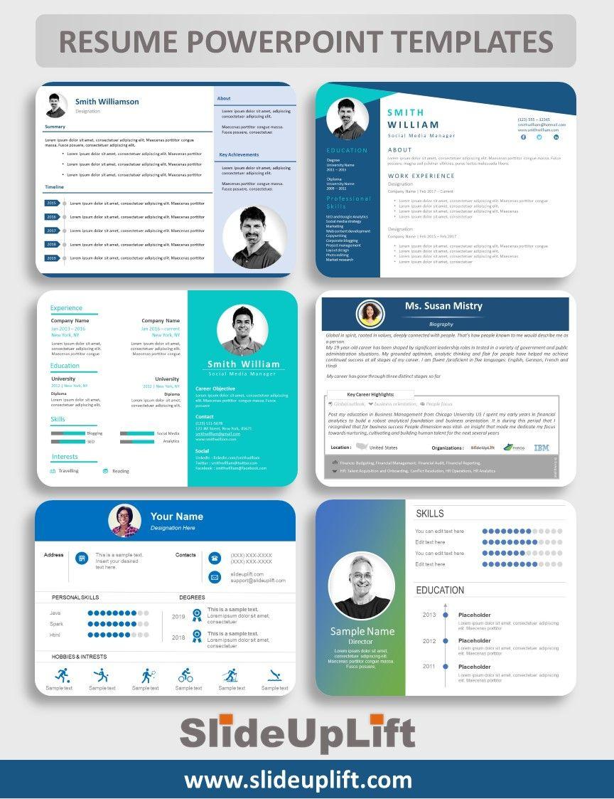 Resume Powerpoint Templates Slideuplift Powerpoint Templates Powerpoint Presentation Design Human Resource Management Templates
