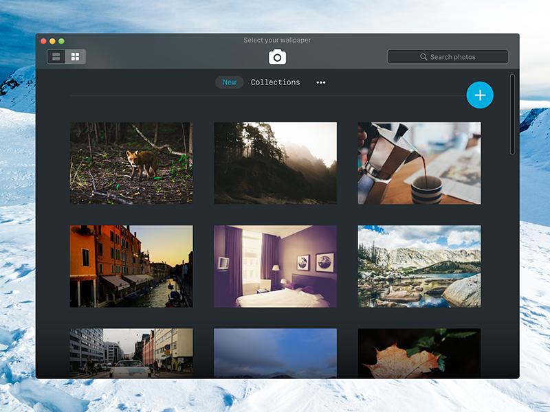 Unsplash Inspired Desktop App by Joe Pascavage