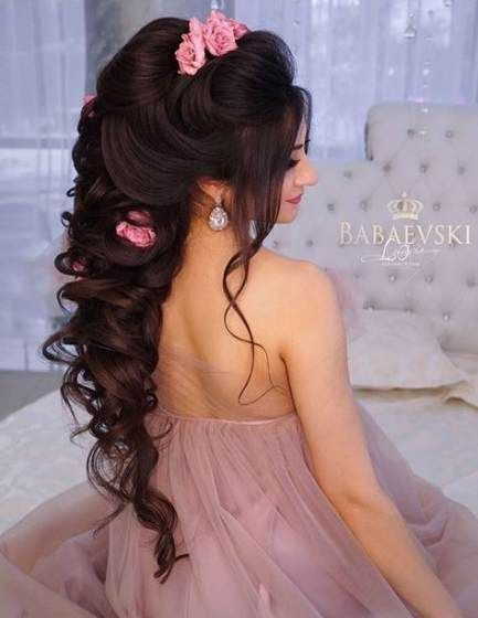 Pin By Priscila Nicole On Peinados Hermosos Party Hairstyles Indian Wedding Hairstyles Bridal Hair And Makeup