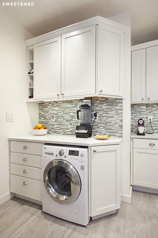Modern Upper West Side Kitchen Renovation Laundry Room Storage