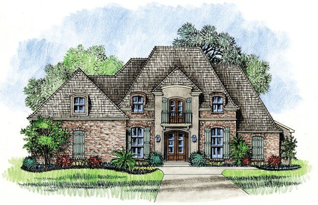 Lafayette   Country French House Plan Designs Louisiana House Plans