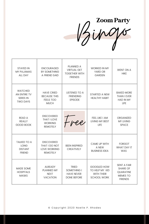 Zoom Party Bingo Games For Moms Bingo Template Bingo