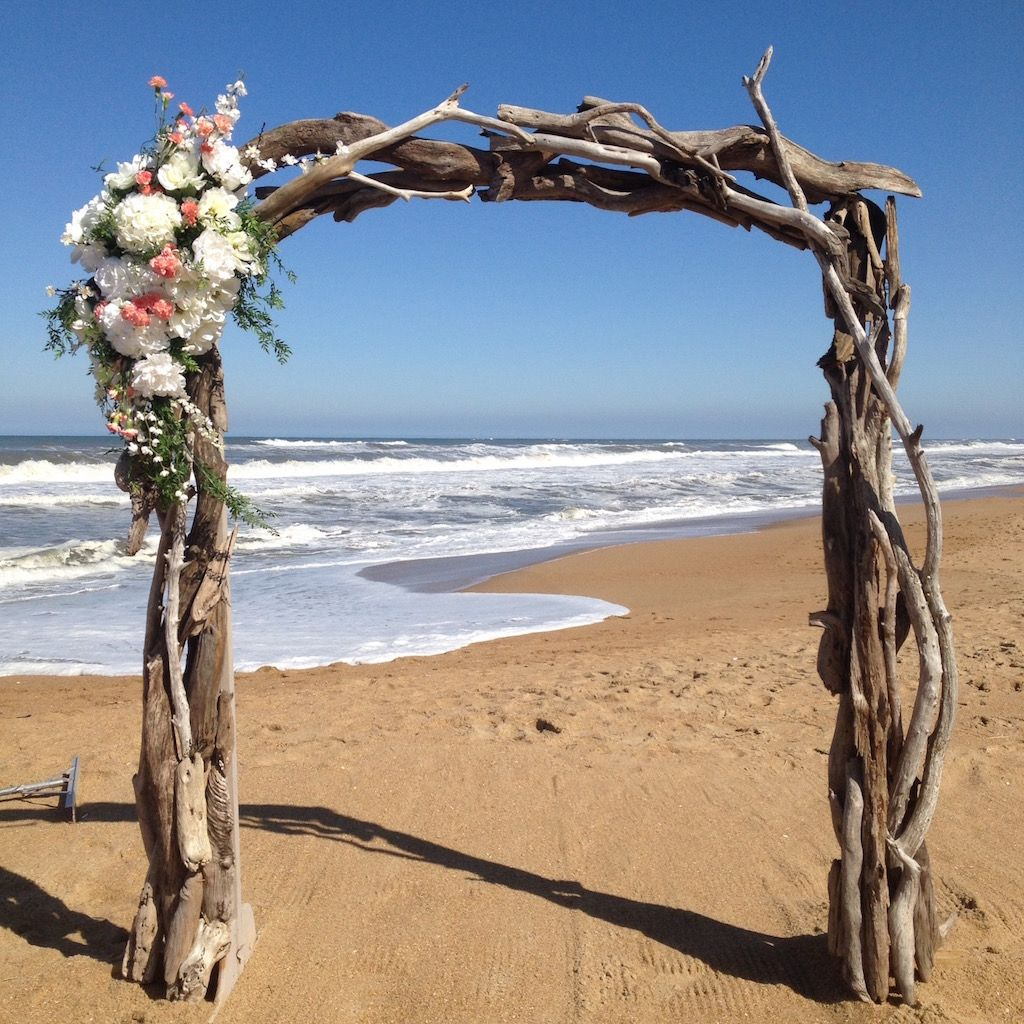Large Driftwood Arch/Floral corner accent