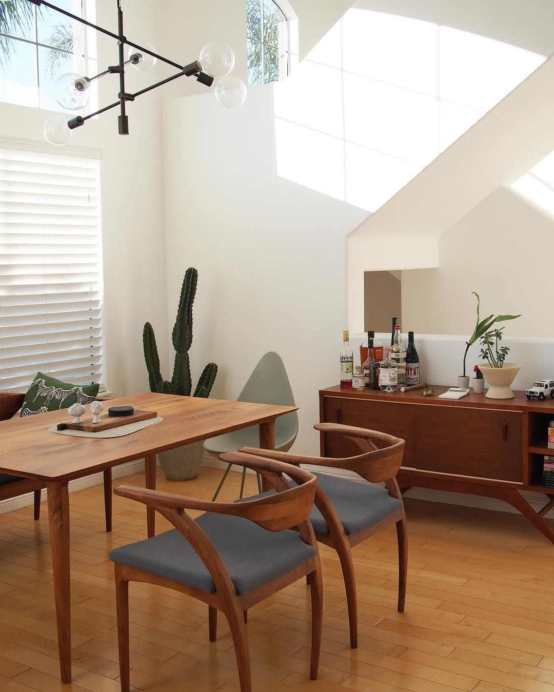 Pleasing Mid Century Dining Room With Wooden Table Chairs And Ocoug Best Dining Table And Chair Ideas Images Ocougorg