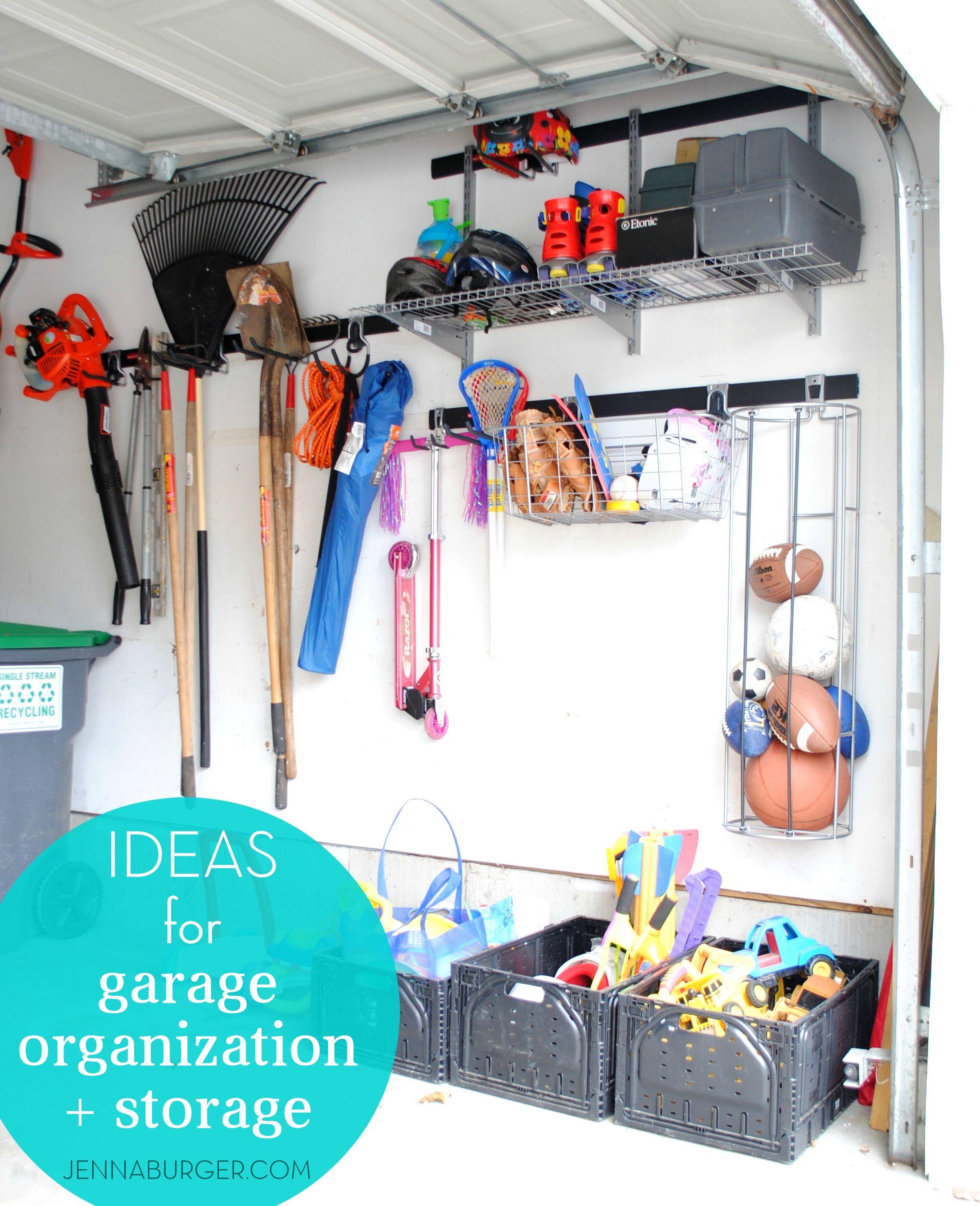 Getting Organized In The GARAGE: Tips + Ideas For Garage Organization U0026  Storage By Jenna