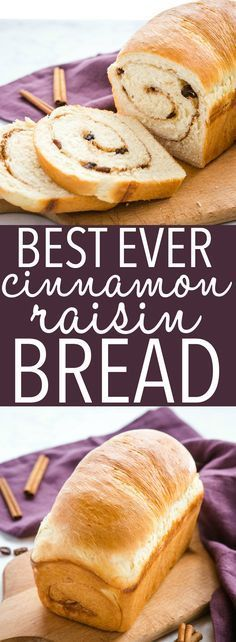 This Best Ever Cinnamon Raisin Bread is the perfect soft sweet bread recipe with a sweet cinnamon swirl and juicy raisins! Makes a delicious snack or breakfast! Recipe from thebusybaker.ca! #cinnamon #raisin #bread #toast #homemade #baking #cinnamonraisin #sweet #dough #homemadebread #baker #homesteading #breakfast #snack