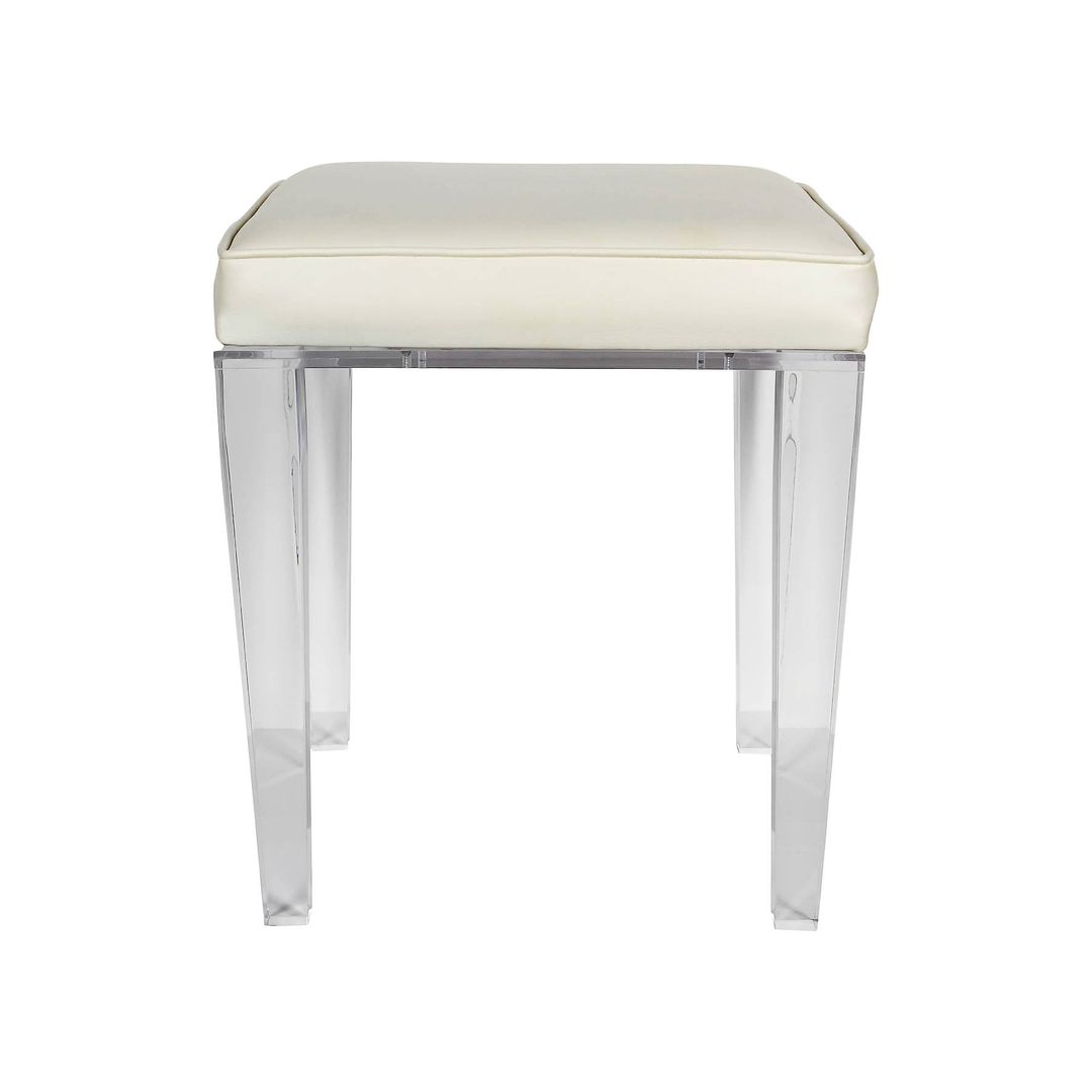 Lucite Vanity Chair Luxe Lucite Vanity Stool In The Style Of Karl Springer