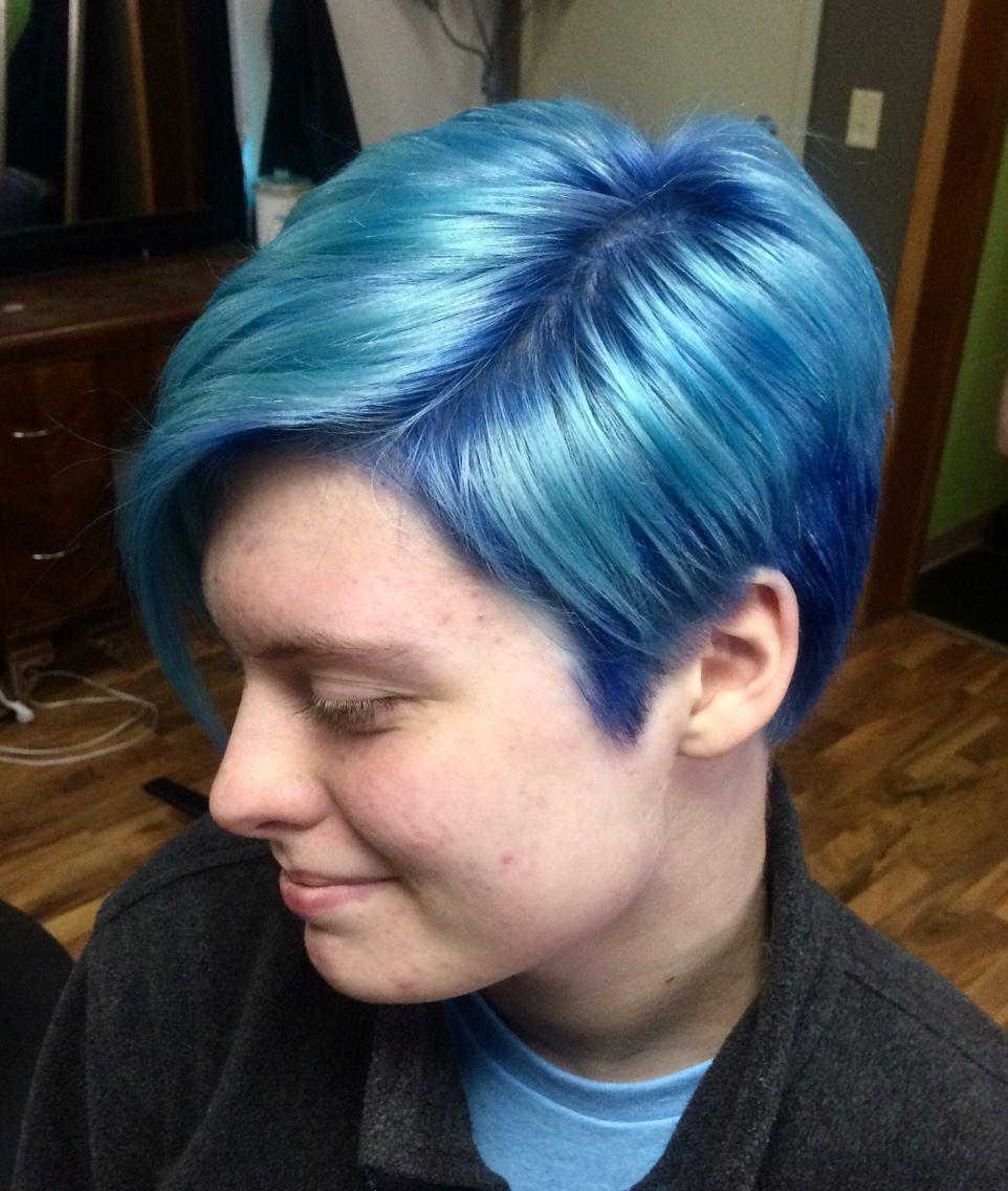 Norhe Extensions Salon Massage Light Blue Hair Blue Hair Short Hair Styles