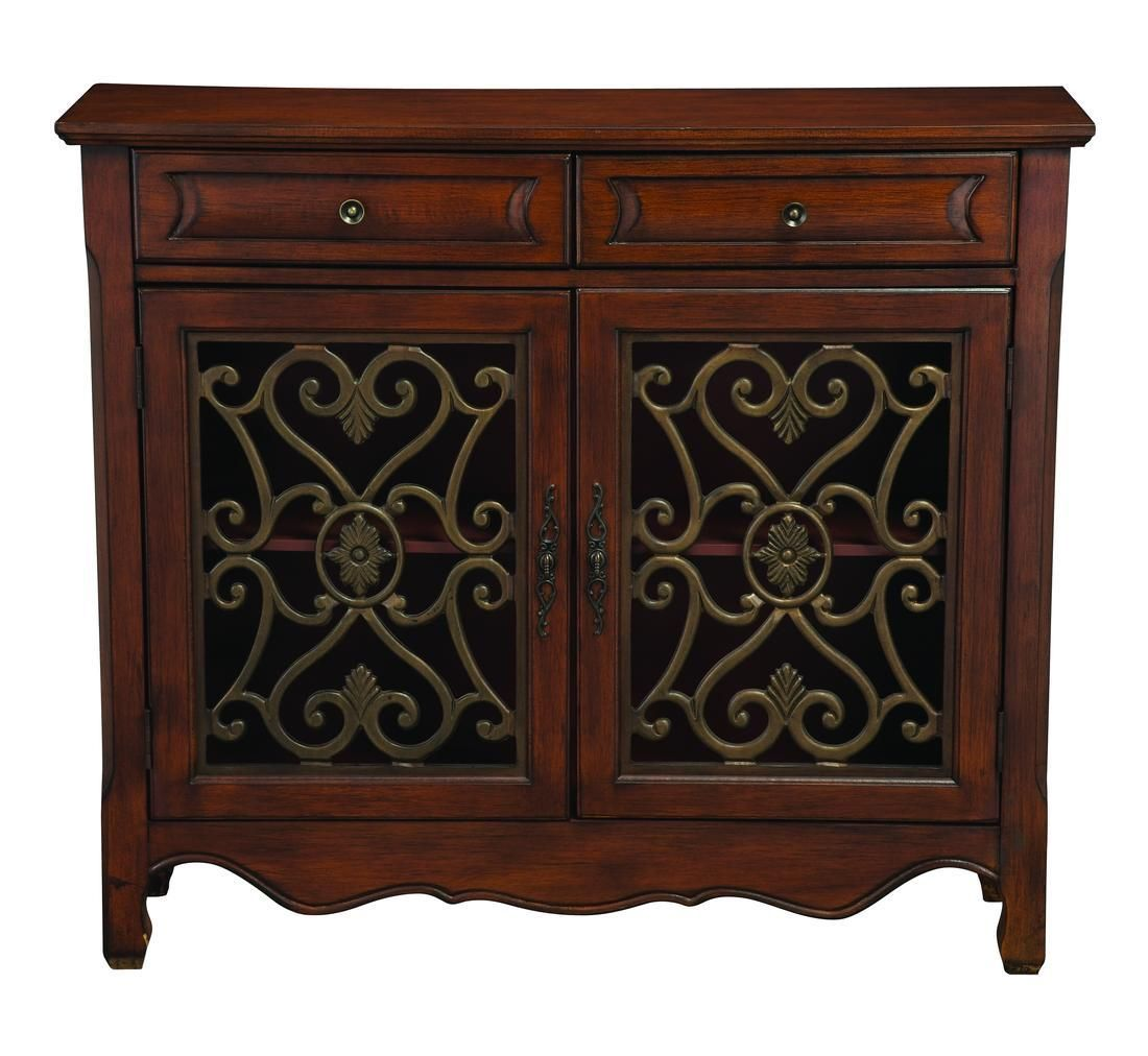 Best This Light Cherry Finished 2 Door 2 Drawer Accent Cabinet 400 x 300