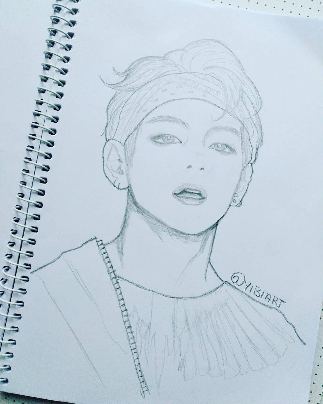 Youneverwalkalone Taehyung Doodle Bts Btsfanart Btsartmy
