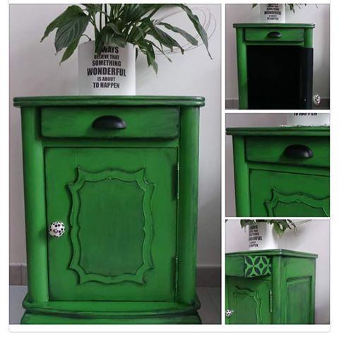 Parfois il faut oser la couleur Petit meuble relooke sans décaper - relooker un meuble en pin